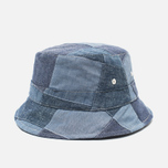 Universal Works Chambray Panama Patchwork Indigo photo- 1