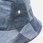 Universal Works Chambray Panama Patchwork Indigo photo- 2