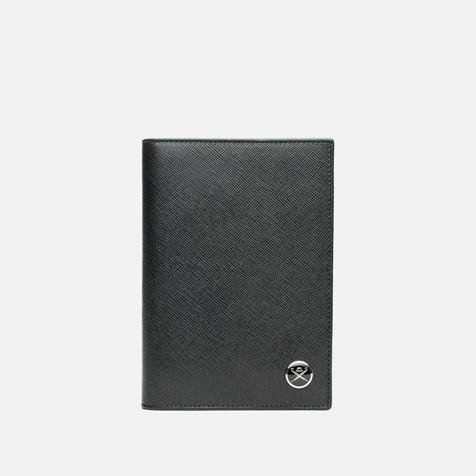 Hackett Saffiano Passport Holder Black