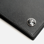 Hackett Saffiano Passport Holder Black photo- 2