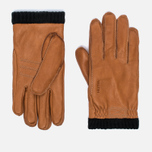 Мужские перчатки Hestra Deerskin Primaloft Ribbed Light Brown фото- 0