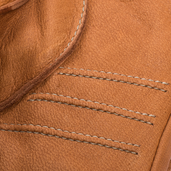 Мужские перчатки Hestra Deerskin Primaloft Ribbed Light Brown