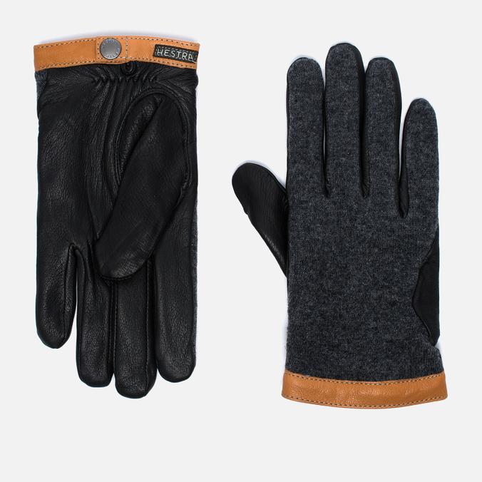Мужские перчатки Hestra Deerskin Wool Tricot Grey