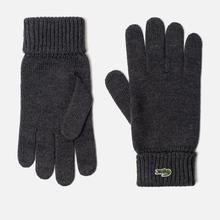 Перчатки Lacoste Green Croc Wool Grey Chine фото- 0