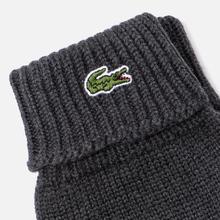 Перчатки Lacoste Green Croc Wool Grey Chine фото- 1