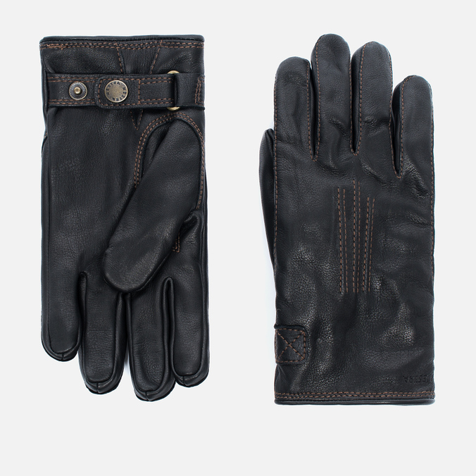 Мужские перчатки Hestra Deerskin Lambfur Black
