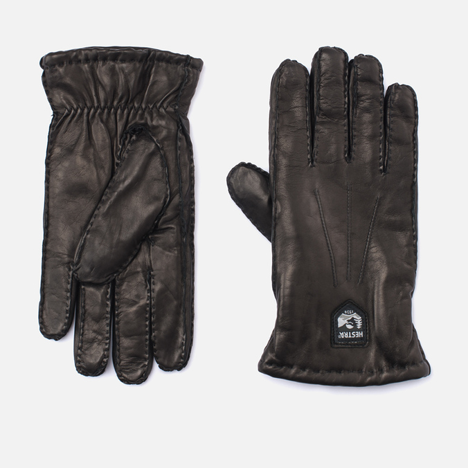 Мужские перчатки Hestra Lambskin Cork Black