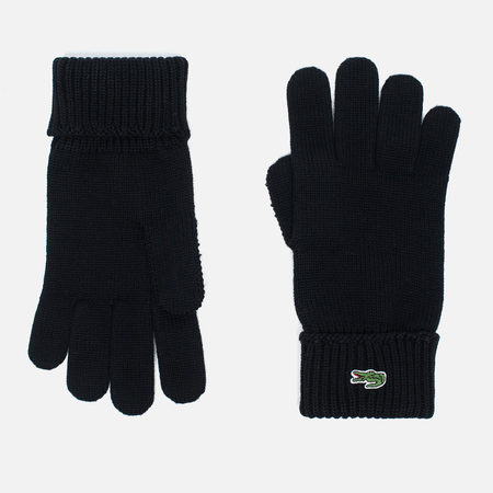 Перчатки Lacoste Green Croc Wool Black