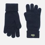 Мужские перчатки Lacoste Green Croc Wool Navy фото- 0
