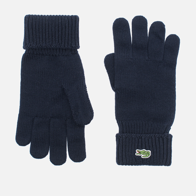 Мужские перчатки Lacoste Green Croc Wool Navy
