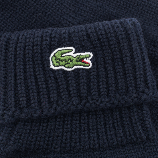 Перчатки Lacoste Green Croc Wool Navy