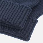 Мужские перчатки Lacoste Green Croc Wool Navy фото- 1
