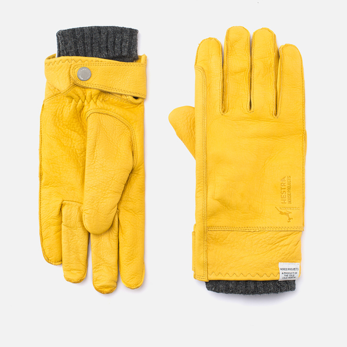 Norse Projects x Hestra Ivar Gloves Misted Yellow