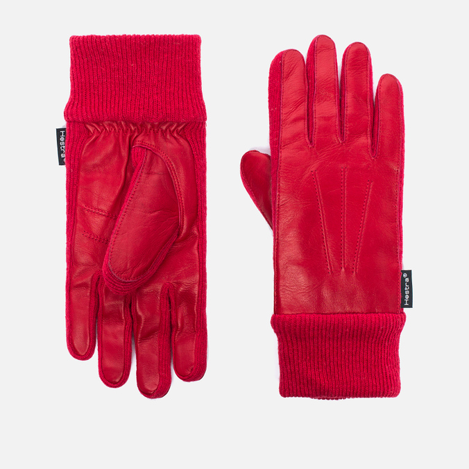 Женские перчатки Hestra Deerskin Sandwich Red