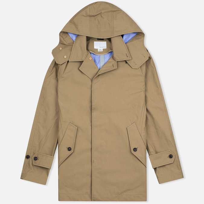 Nanamica GORE-TEX Short Soutien Collar Men`s Coat Beige