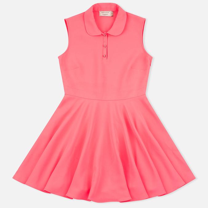 Женское платье Maison Kitsune Crepe Ella Pink Fluo