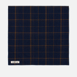 Платок The Hill-Side Flannel Check Indigo/Brown фото- 0