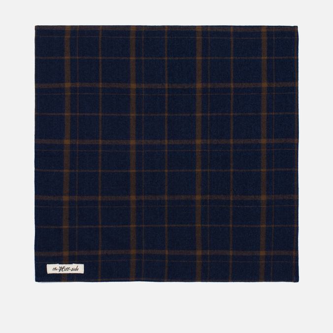 Платок The Hill-Side Flannel Check Indigo/Brown
