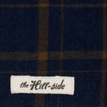 Платок The Hill-Side Flannel Check Indigo/Brown фото- 1