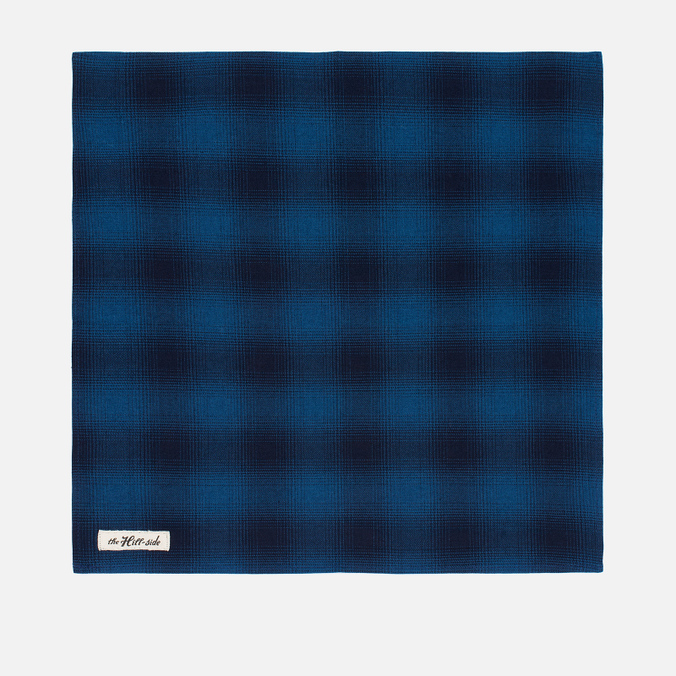 Платок The Hill-Side Ombre Plaid Flannel Indigo