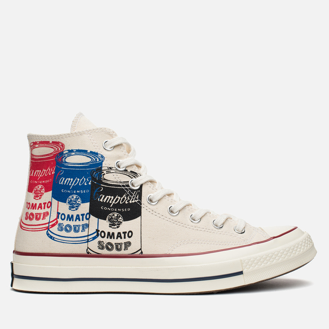 Мужские кеды Converse All Star Chuck 70 Andy Warhol Natural/White