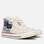 Мужские кеды Converse All Star Chuck 70 Andy Warhol Natural/White фото- 1
