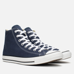 Converse Chuck Taylor All Star Classic Hi Plimsoles Navy/White photo- 1
