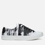 Converse Jack Purcell Painted Graphic Plimsoles Black/White photo- 0