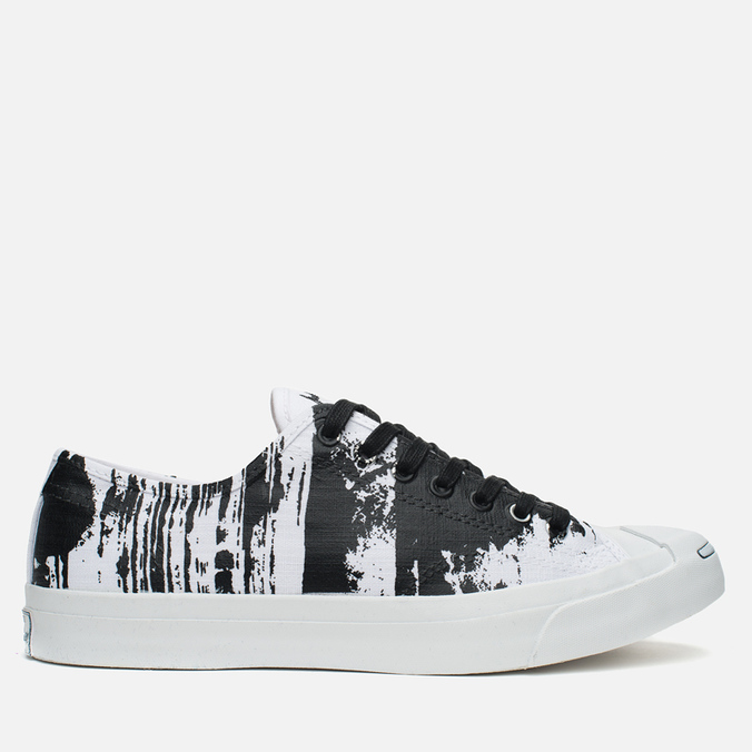 Converse Jack Purcell Painted Graphic Plimsoles Black/White