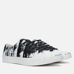 Converse Jack Purcell Painted Graphic Plimsoles Black/White photo- 1