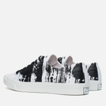 Converse Jack Purcell Painted Graphic Plimsoles Black/White photo- 2