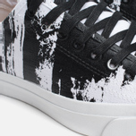 Converse Jack Purcell Painted Graphic Plimsoles Black/White photo- 5