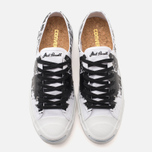 Converse Jack Purcell Painted Graphic Plimsoles Black/White photo- 4