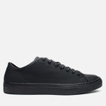 Мужские кеды Diemme Veneto Low Rubberized Leather Black фото- 0