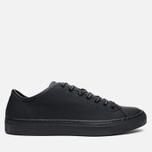 Diemme Veneto Low Rubberized Leather Men's Plimsoles Black photo- 0