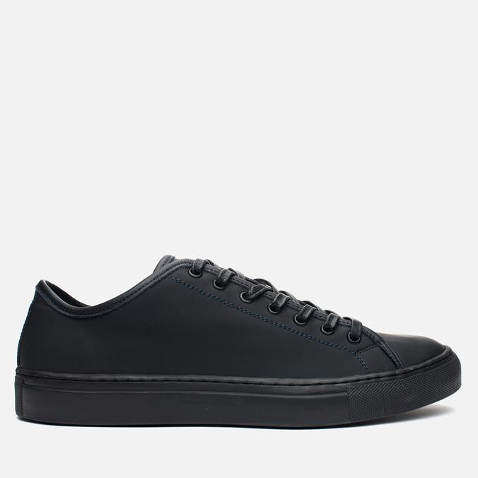 Diemme Veneto Low Rubberized Leather Men's Plimsoles Black