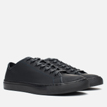 Мужские кеды Diemme Veneto Low Rubberized Leather Black фото- 1