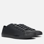Diemme Veneto Low Rubberized Leather Men's Plimsoles Black photo- 1