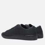 Diemme Veneto Low Rubberized Leather Men's Plimsoles Black photo- 2
