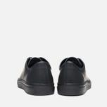 Diemme Veneto Low Rubberized Leather Men's Plimsoles Black photo- 3