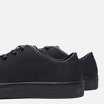 Diemme Veneto Low Rubberized Leather Men's Plimsoles Black photo- 7