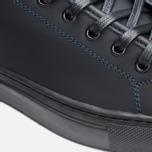 Diemme Veneto Low Rubberized Leather Men's Plimsoles Black photo- 5