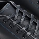 Diemme Veneto Low Rubberized Leather Men's Plimsoles Black photo- 6