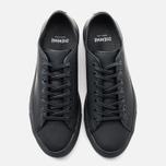 Diemme Veneto Low Rubberized Leather Men's Plimsoles Black photo- 4