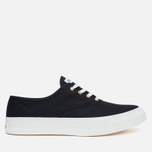 Maison Kitsune Canvas Rubber Men's Plimsoles Black photo- 0