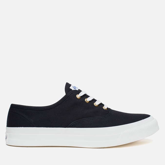 Maison Kitsune Canvas Rubber Men's Plimsoles Black