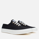 Мужские кеды Maison Kitsune Canvas Rubber Black фото- 1