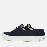 Мужские кеды Maison Kitsune Canvas Rubber Black фото- 2