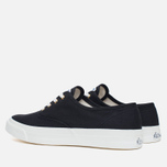 Maison Kitsune Canvas Rubber Men's Plimsoles Black photo- 2