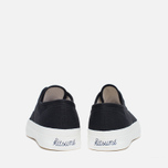 Maison Kitsune Canvas Rubber Men's Plimsoles Black photo- 3